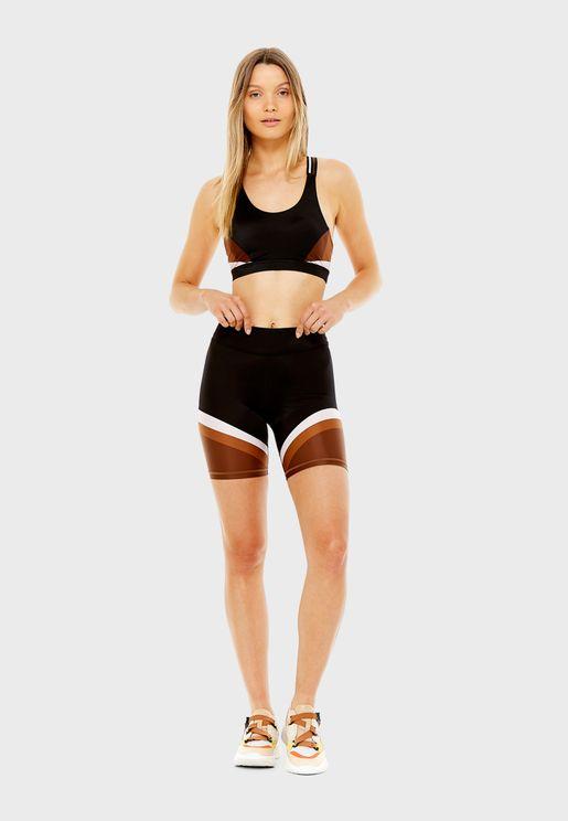 Colour Block Spin Shorts