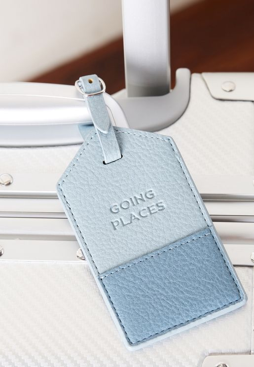 Blue Splice Luggage Tag