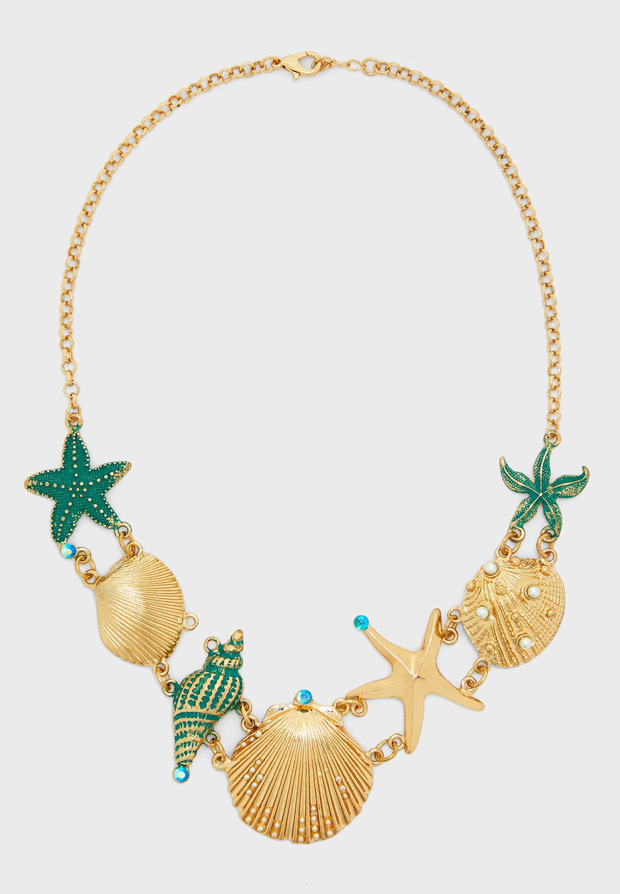 Oversized Shell Detail Necklace
