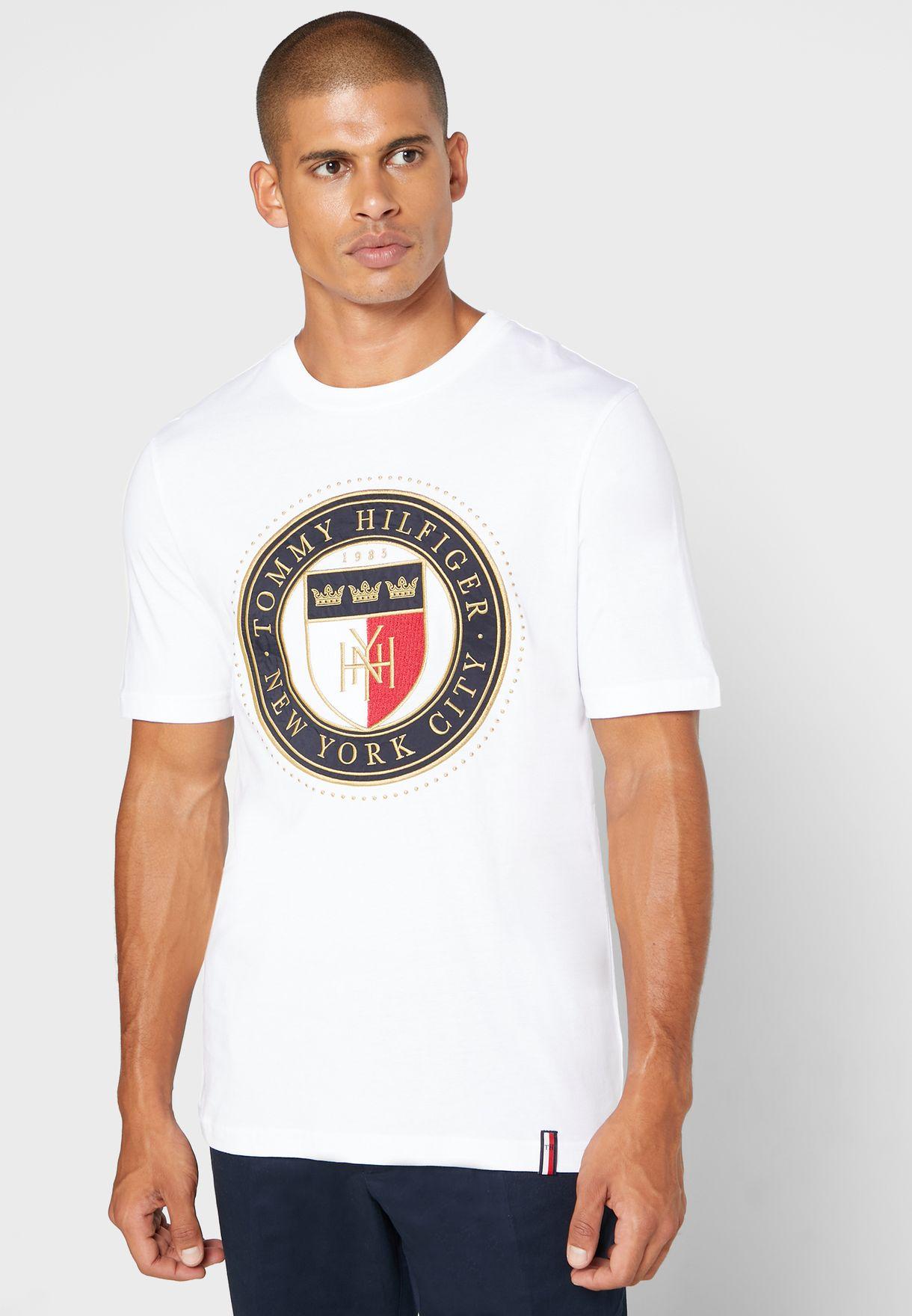 Circular Shield Crew Neck T-Shirt