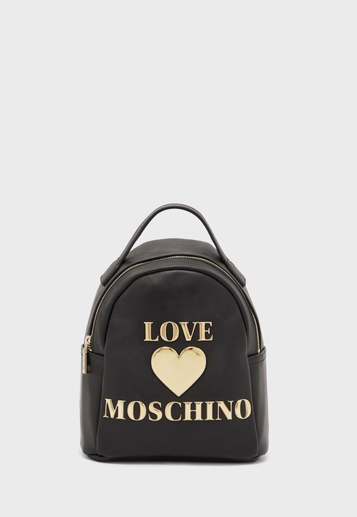 Logo Top Handle Backpack