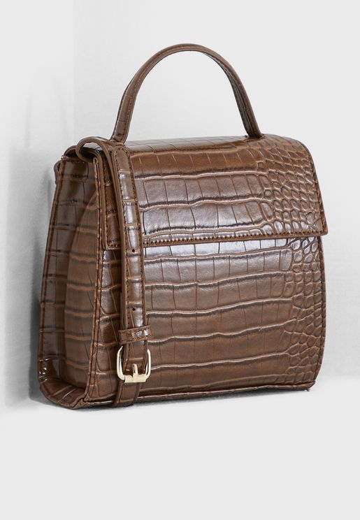 Chocolate Mock Satchel