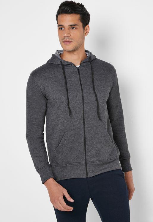 Essential Zip Through Hoodie