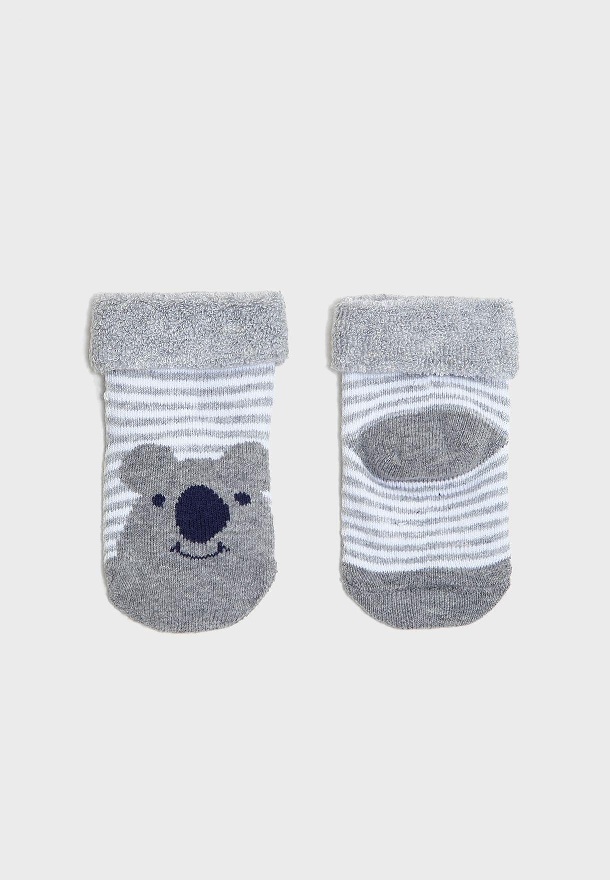 Infant 2 Pack Bear Socks