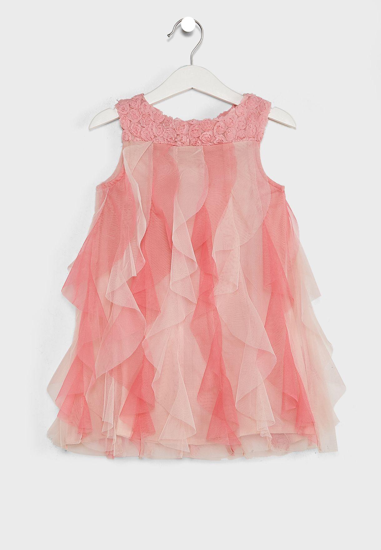 Detailed Ruffle Dress