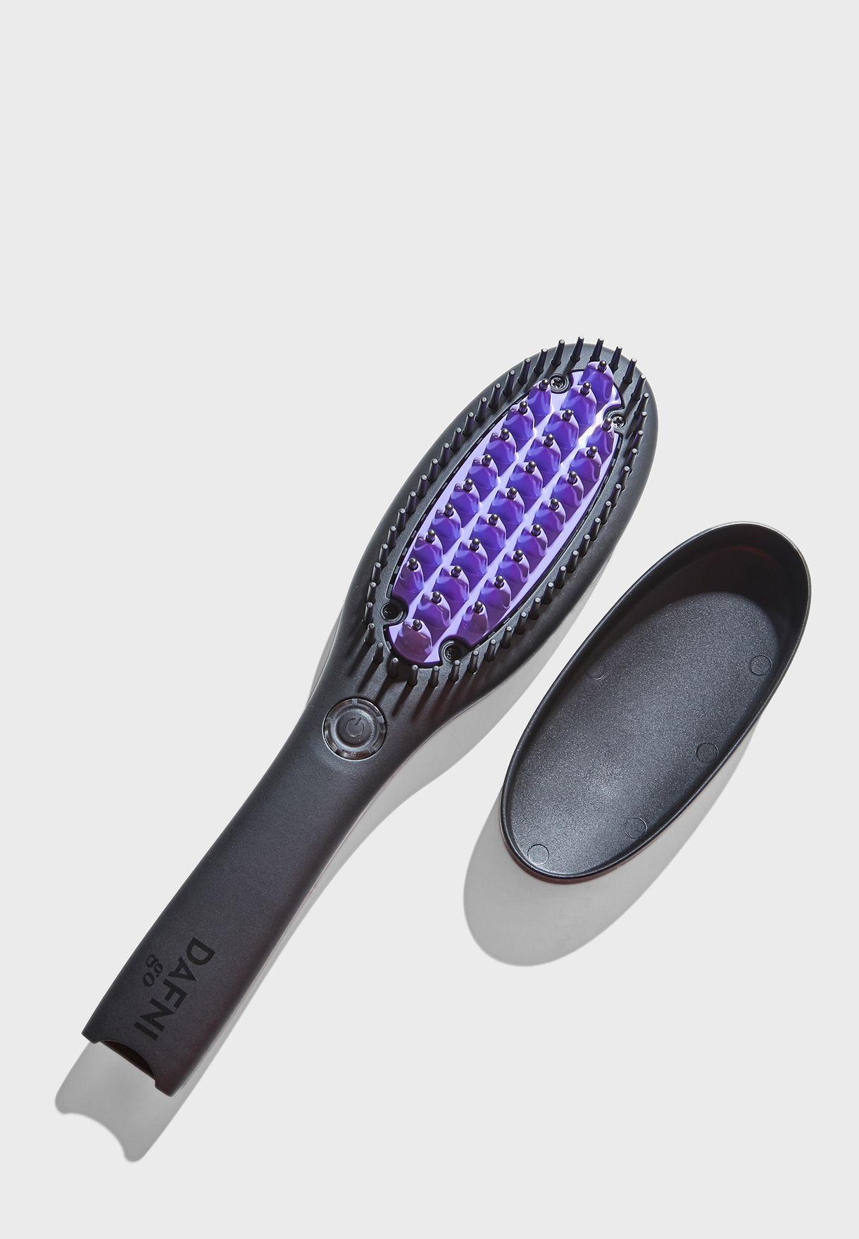Shop Dafni Black Dafni Go Hair Straightening Brush Go Hair