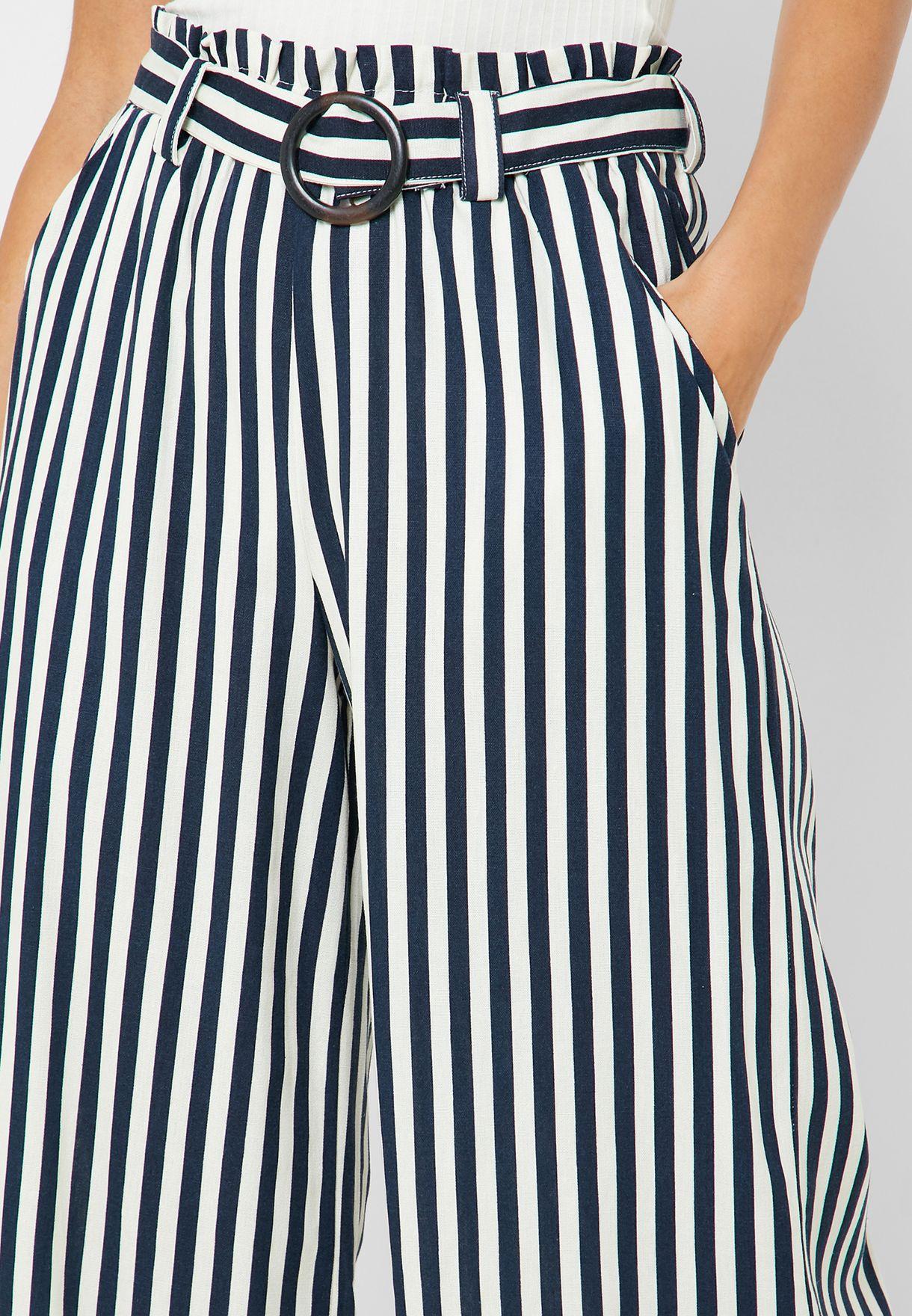 Buckle Detail Culottes Pants