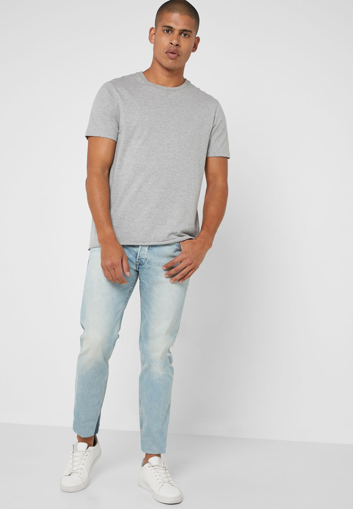 Tim Light Wash Slim Fit Jeans
