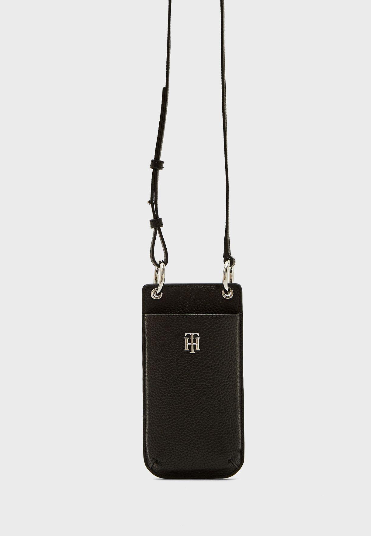 محفظة هاتف وبطاقات بحمالة كتف طويلة