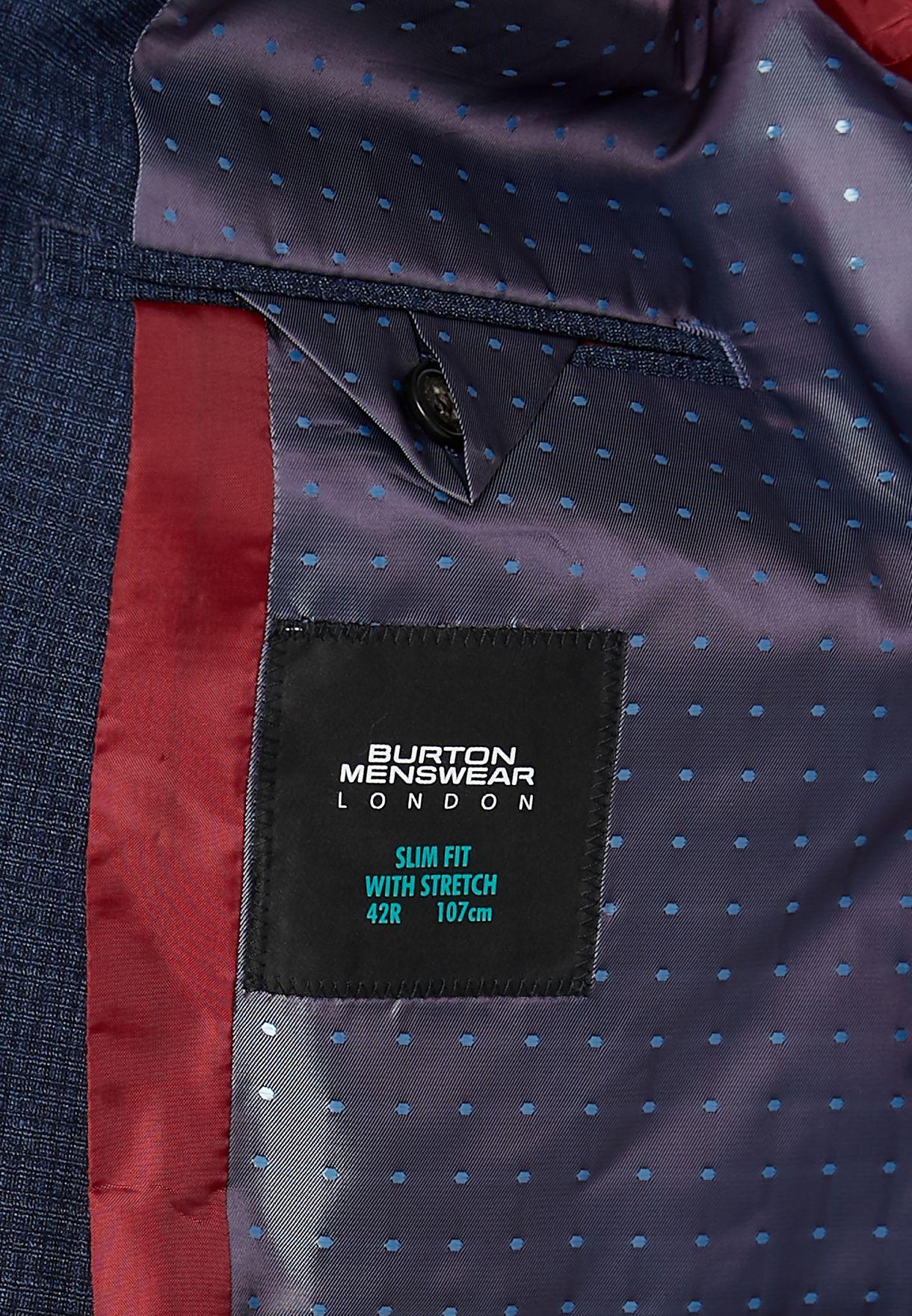 Burton Textured Slim Fit Blazer