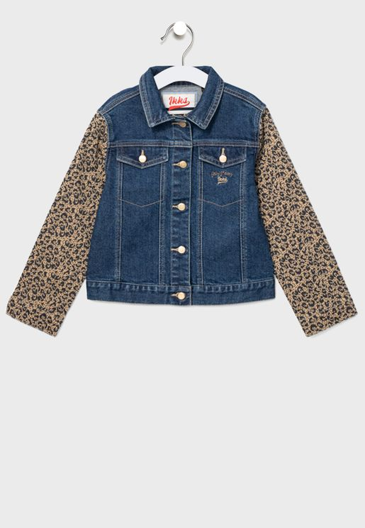 Kids shirt Collar Denim Jacket