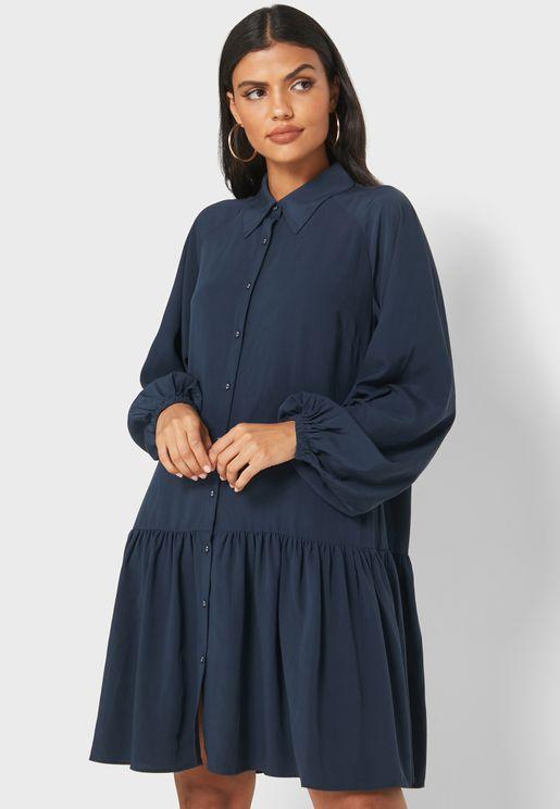 فستان باكمام بالون