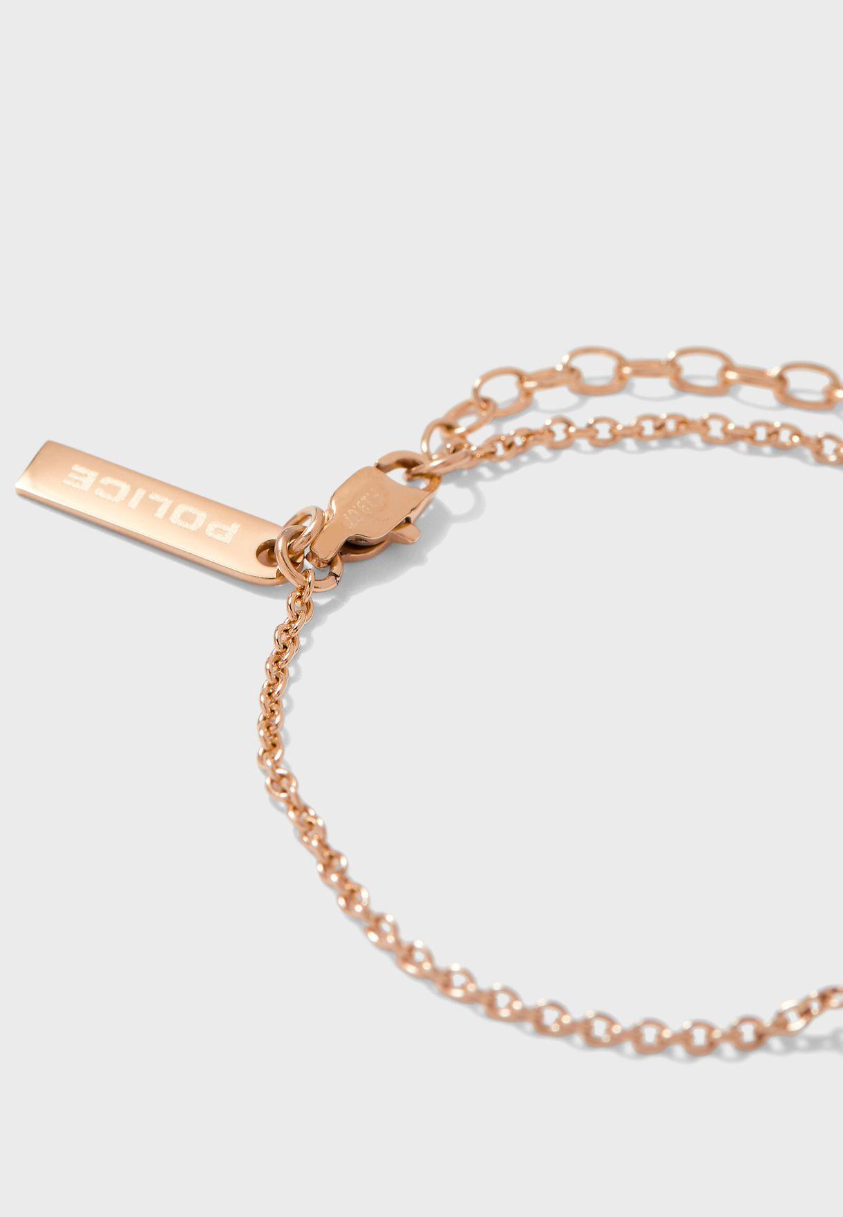 Chain Link Stones Bracelet