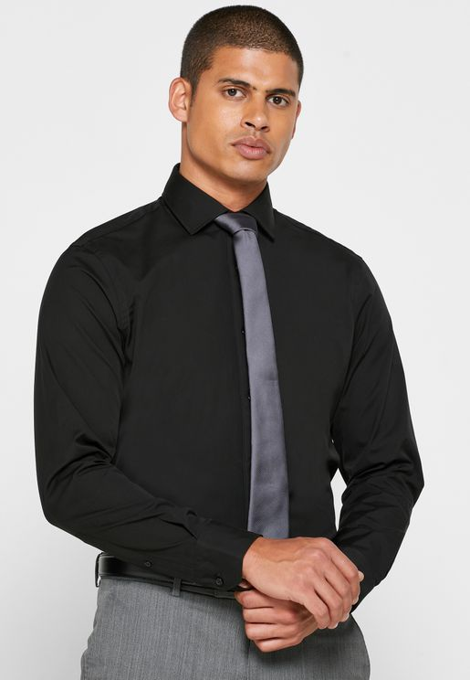 Button Cuff Slim Fit Shirt