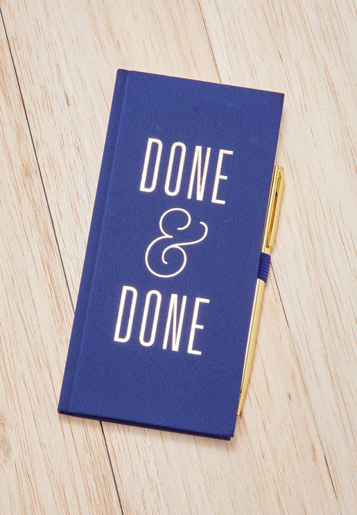 Done & Done Journal With Pen