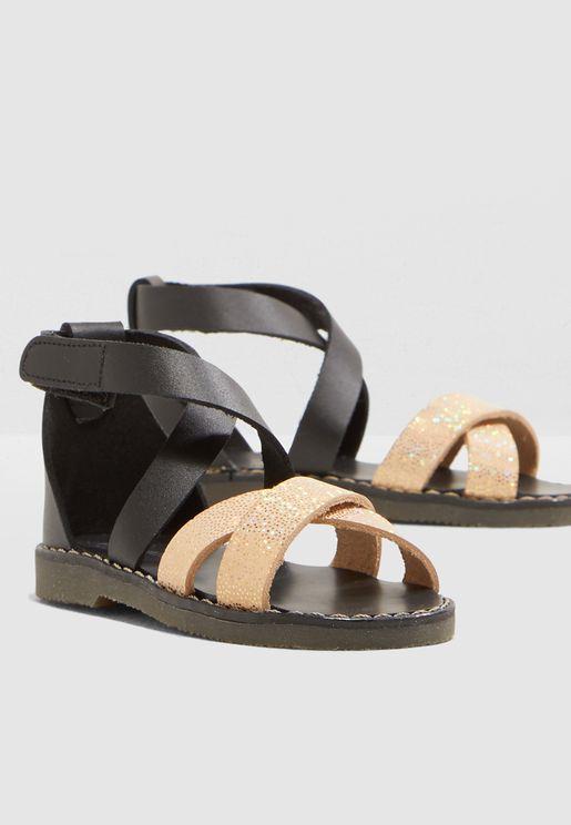 Kids Glitter Strap Sandal