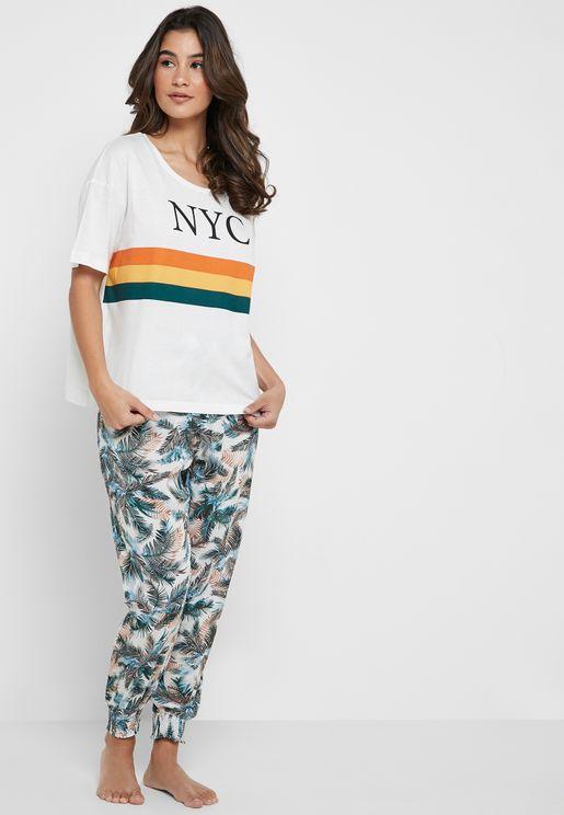 NYC T-Shirt & Pyjama Set