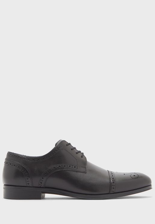Genuine Leather Brogue Formal Lace Ups