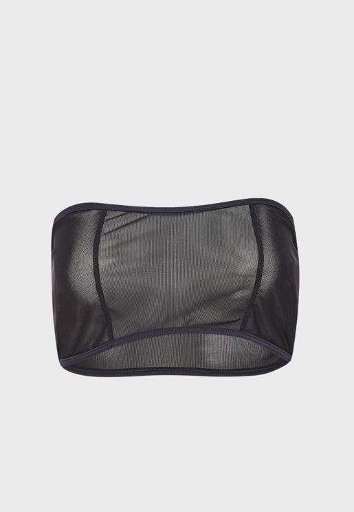 Seam Detail Bandeau Soft Bra