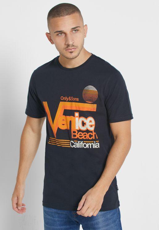 Cali Slim Fit Crew Neck T-Shirt