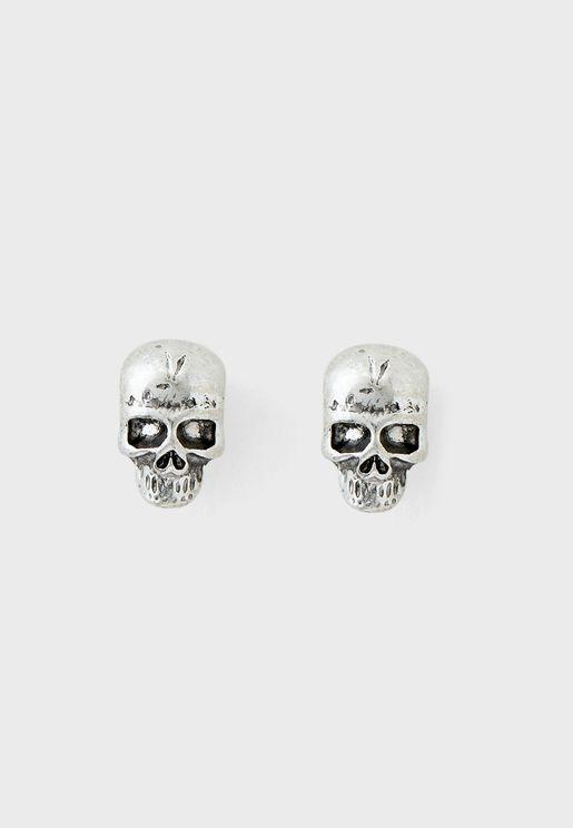 Shipwrecked Skull Stud Earring