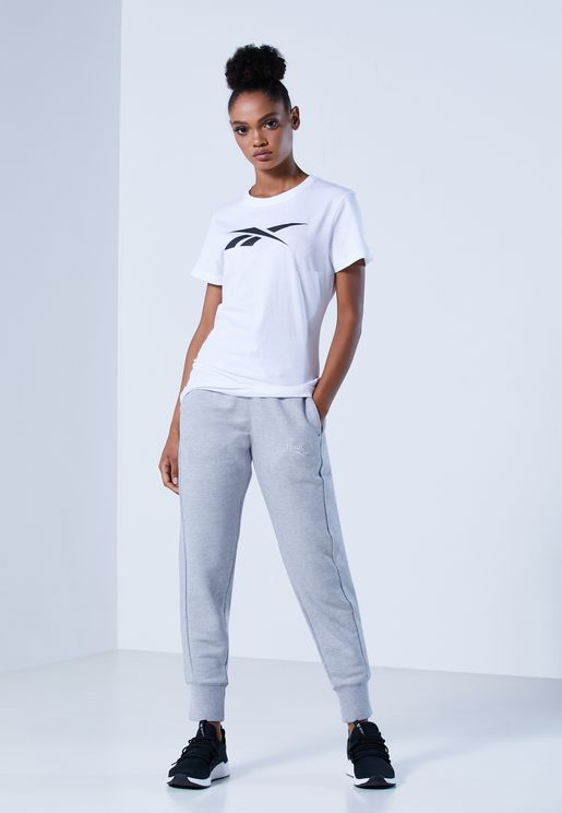 Textured Logo Elements Sports Women's Jogger Pants