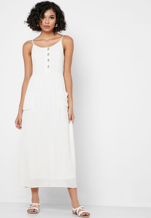 Pocket Detail Cami Strap Dress