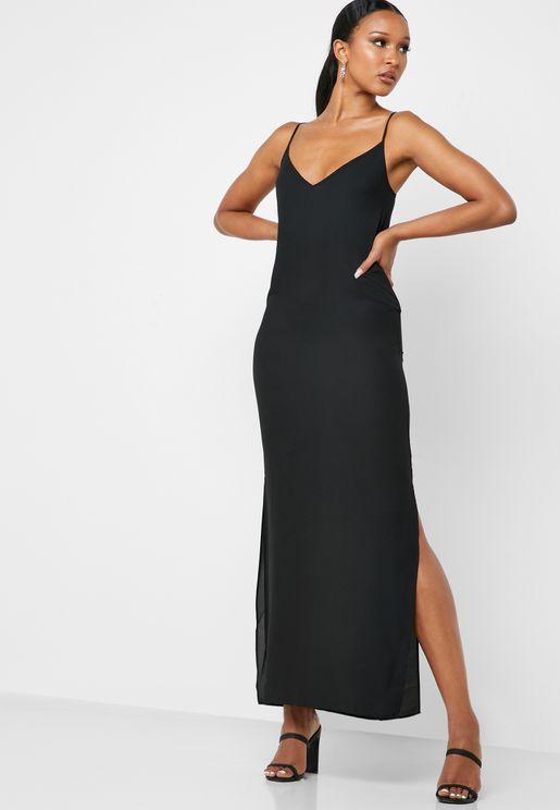 فستان بشق جانبي