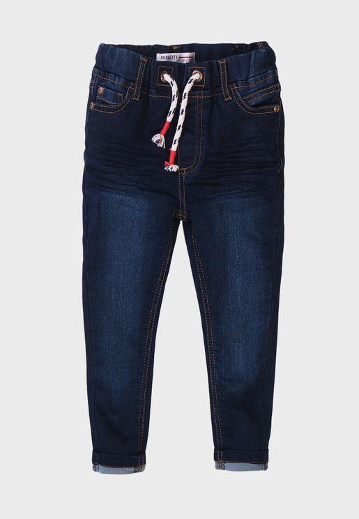 Kids Basic Knitted Denim Jeans