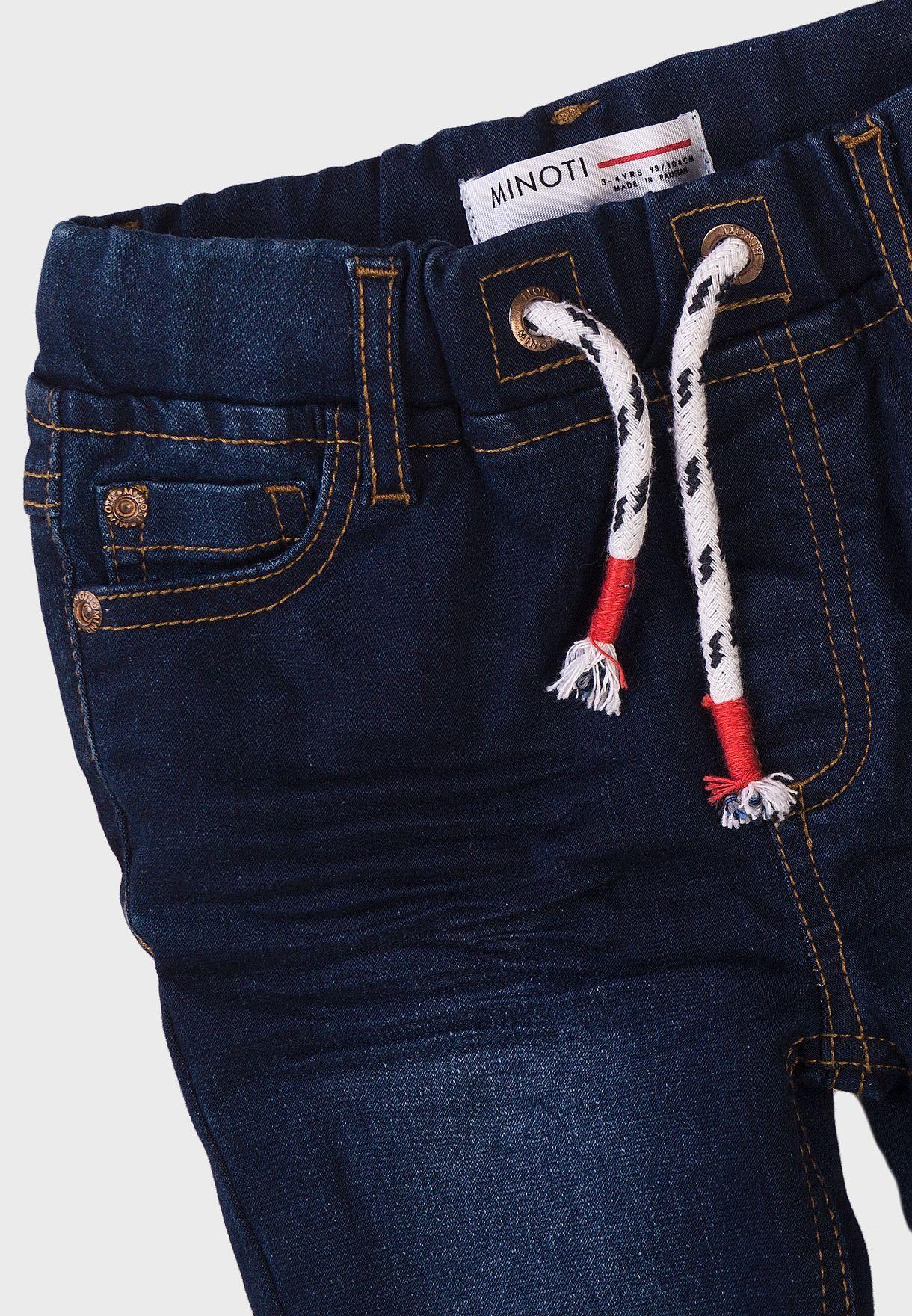 جينز كلاسيكي بخصر مطاطي