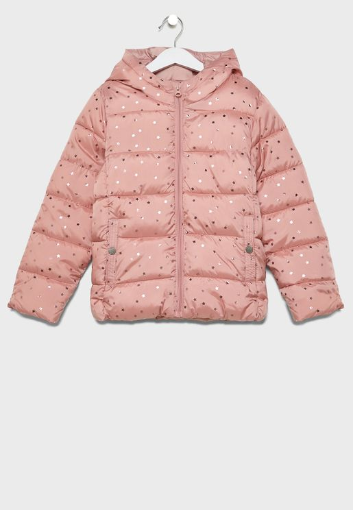 Kids Printed Puffer Down Jacket
