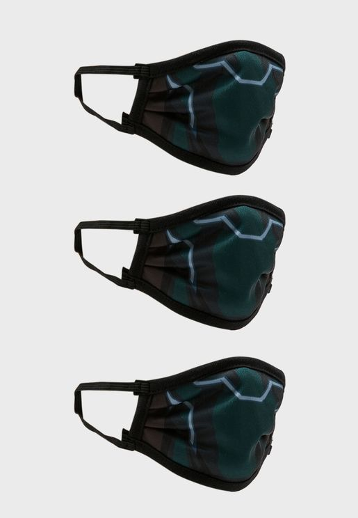 Pack of 3 Black Panther Fabric Face Cover Mask
