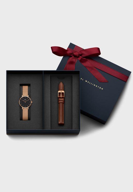 Melrose + Mawes Multistrap Analog Watch Gift Set