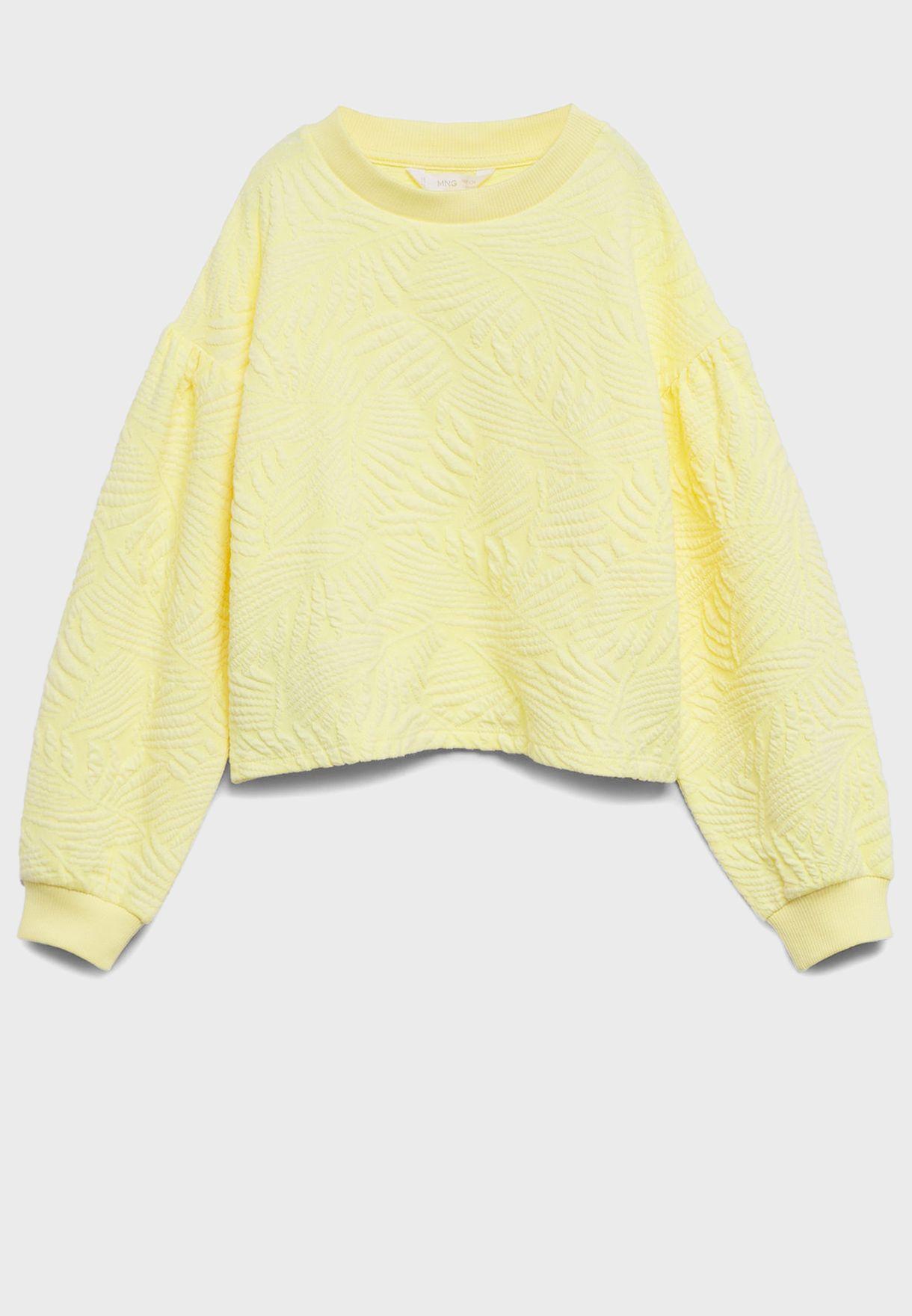 Kids Leave Texture Sweatshirt