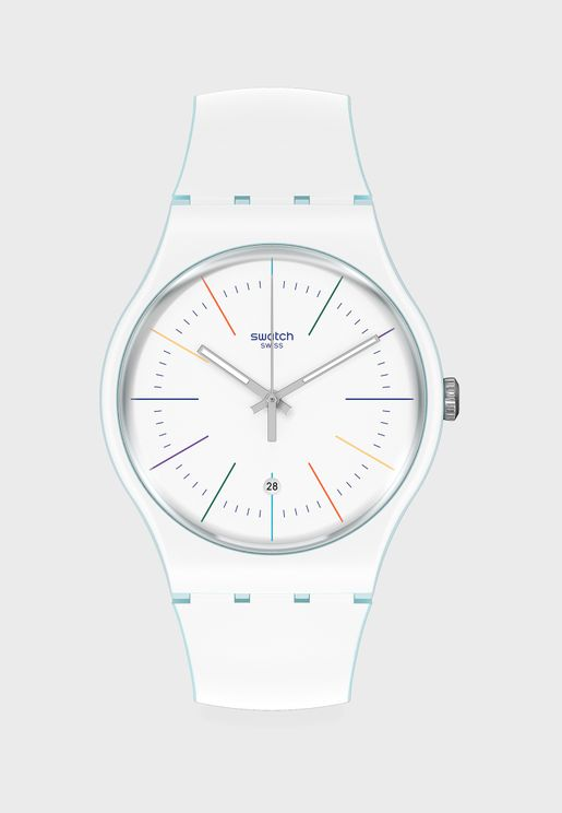 White Layered Analog Watch