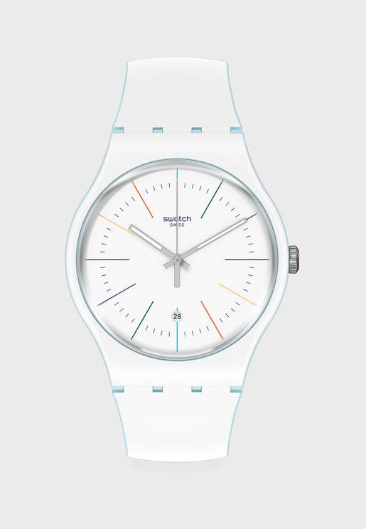 White Layered Analog Watch