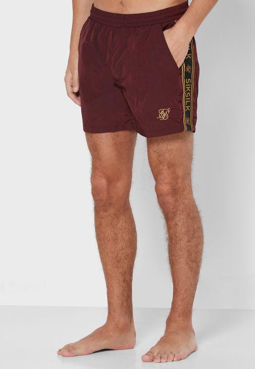 Crushed Nylon Taped Shorts
