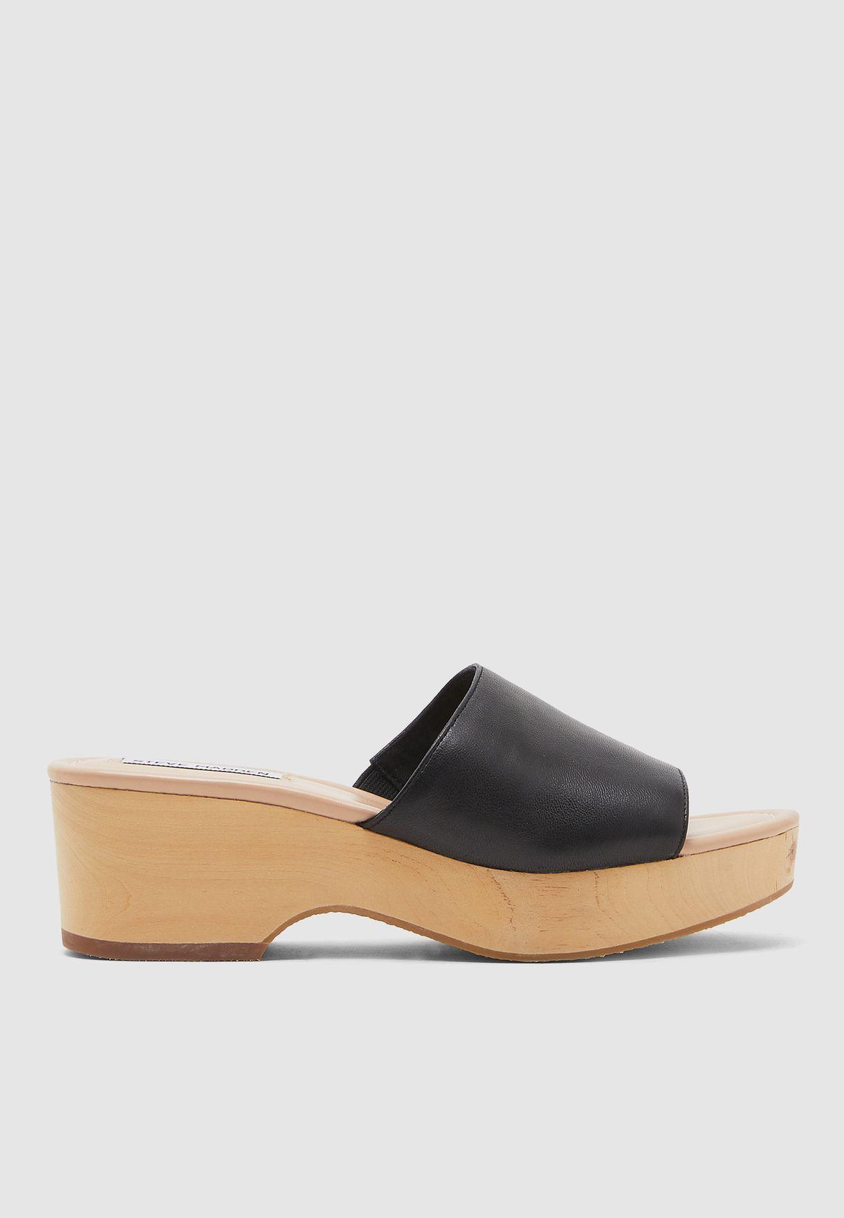 Clarke Single Strap High Heel Sandal - Black