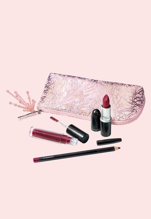 Starlit Lip Bag Red