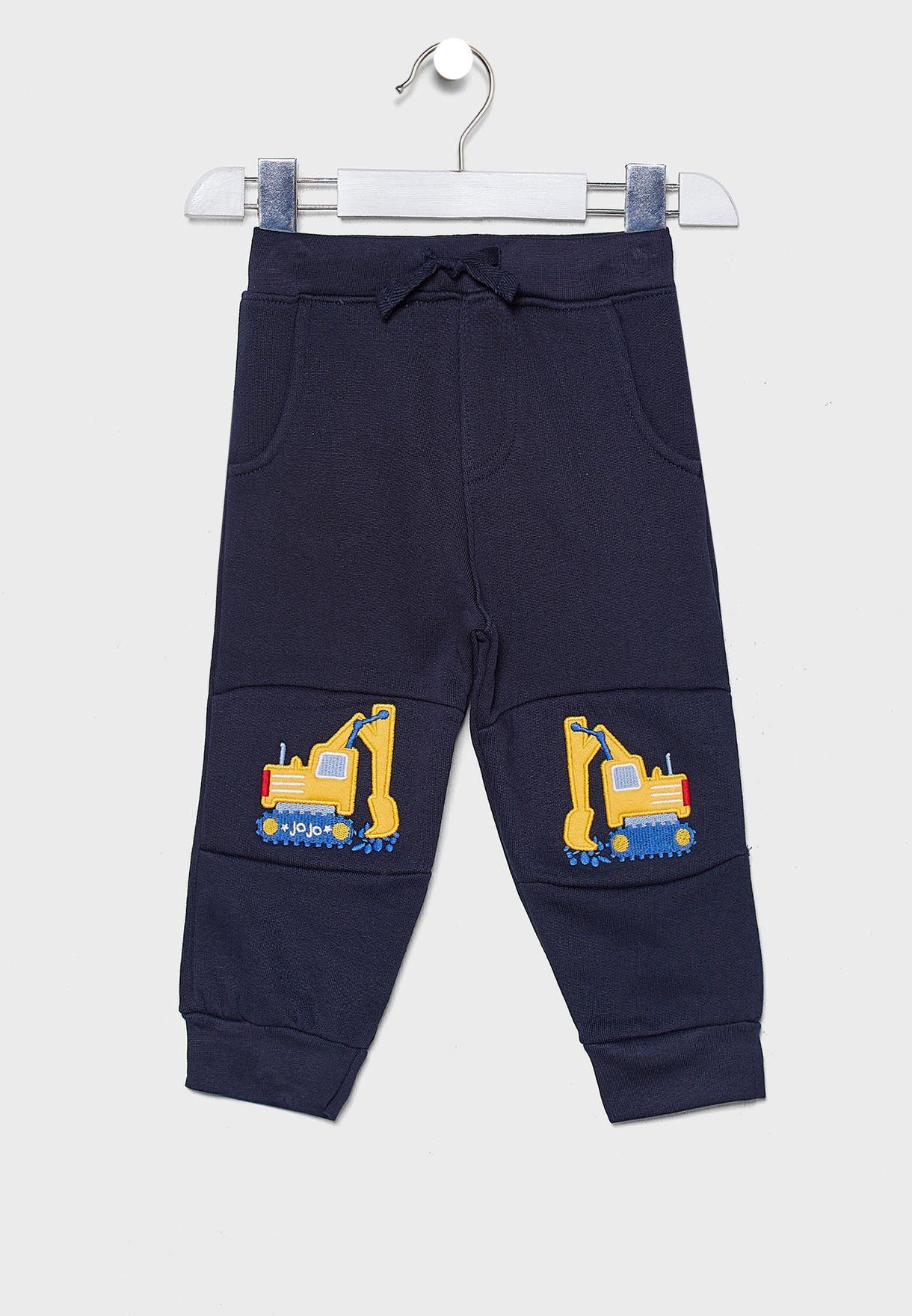 Kids Digger Applique Sweatpants