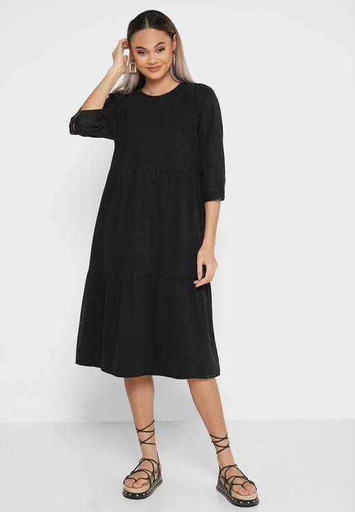 فستان جينز كاجوال
