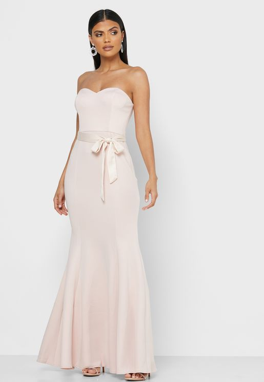 Sweetheart Belted Maxi Dress