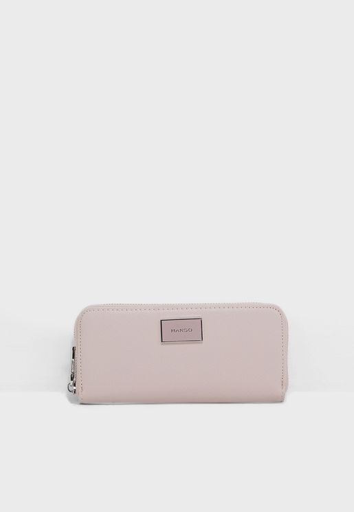 Lole Zip Saffiano Effect Wallet