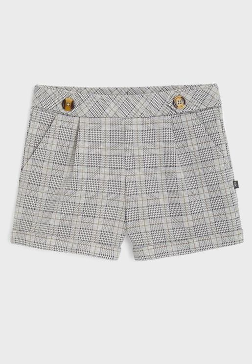 Kids Checked Shorts