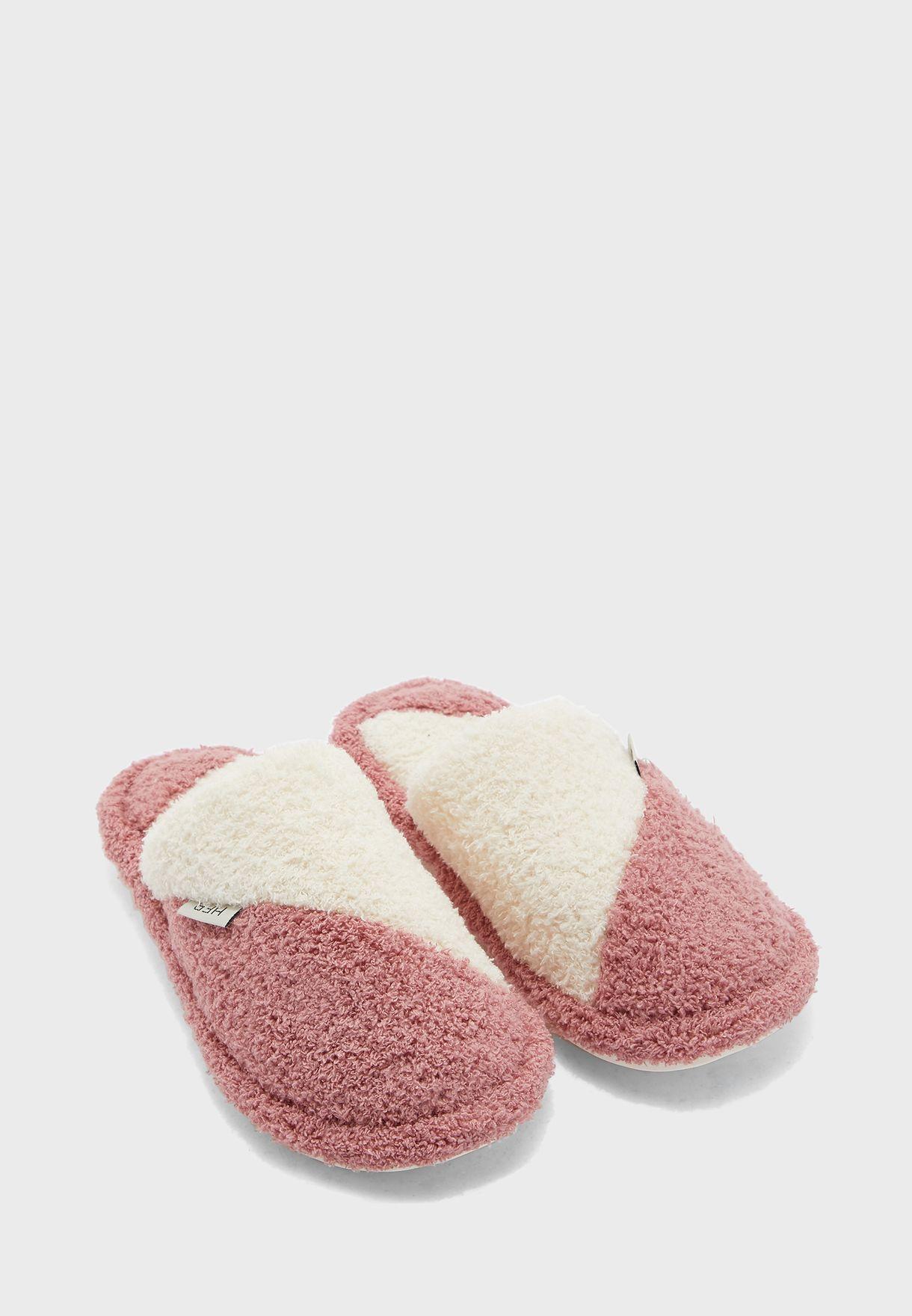 Colourblock Bedroom Slippers