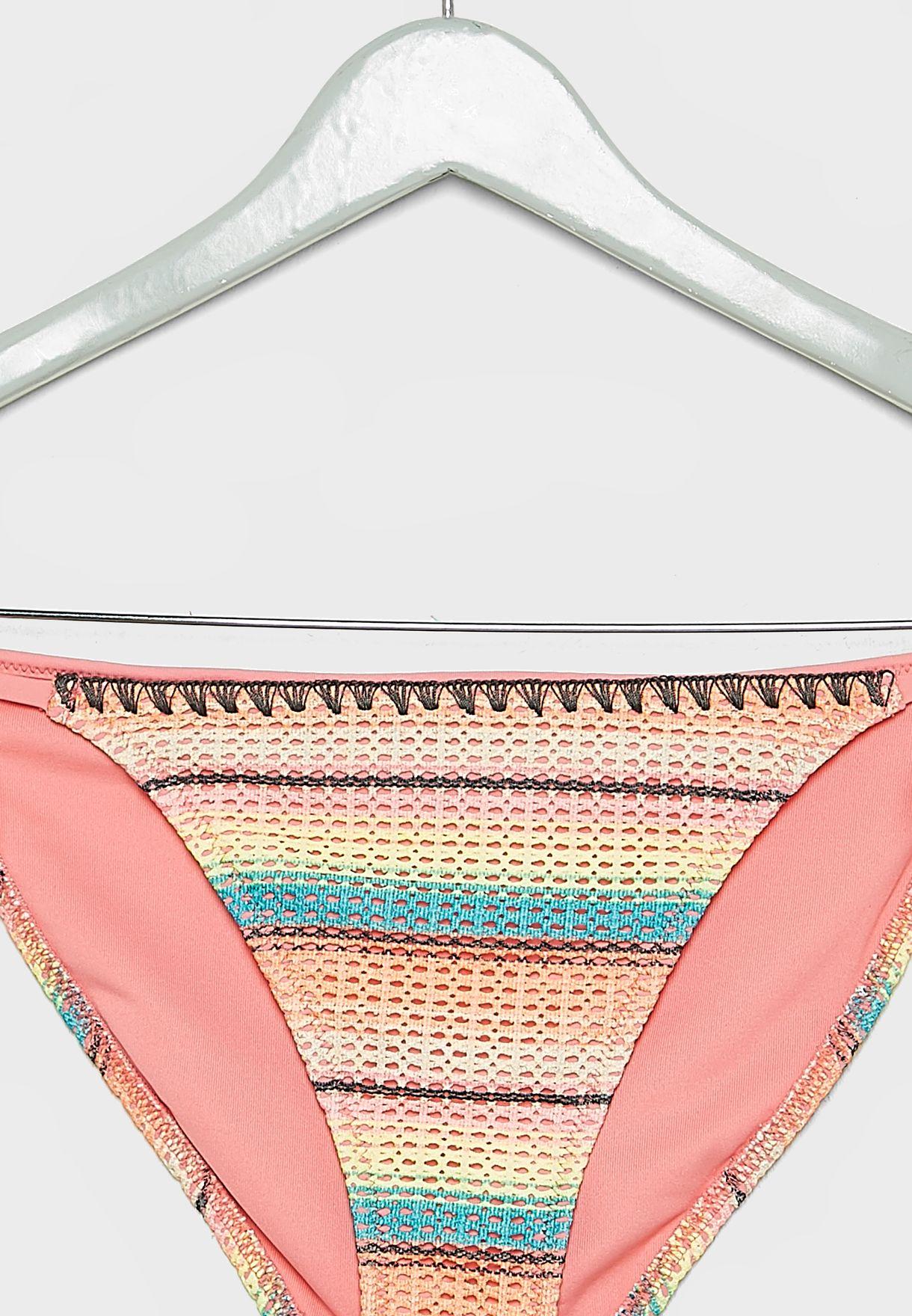 Corfu Crochet Side String Bikini Bottom