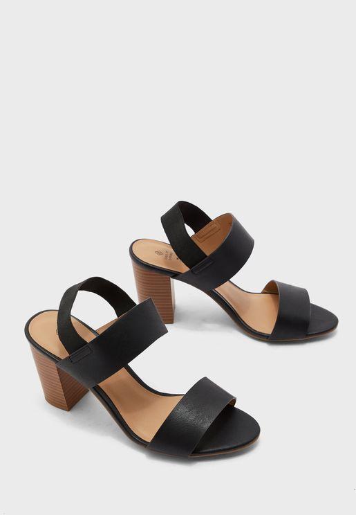 Rigidae Ankle Strap Block Heel Sandal