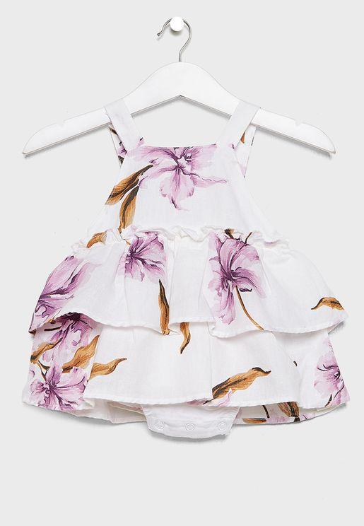 Infant Printed Layered Dress