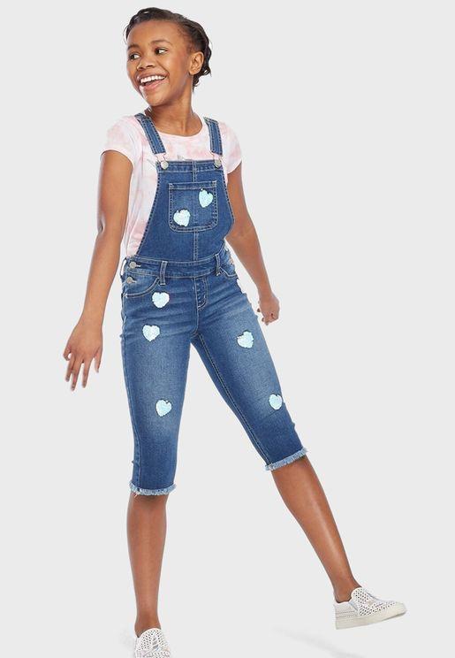 دنغري جينز مزين بترتر