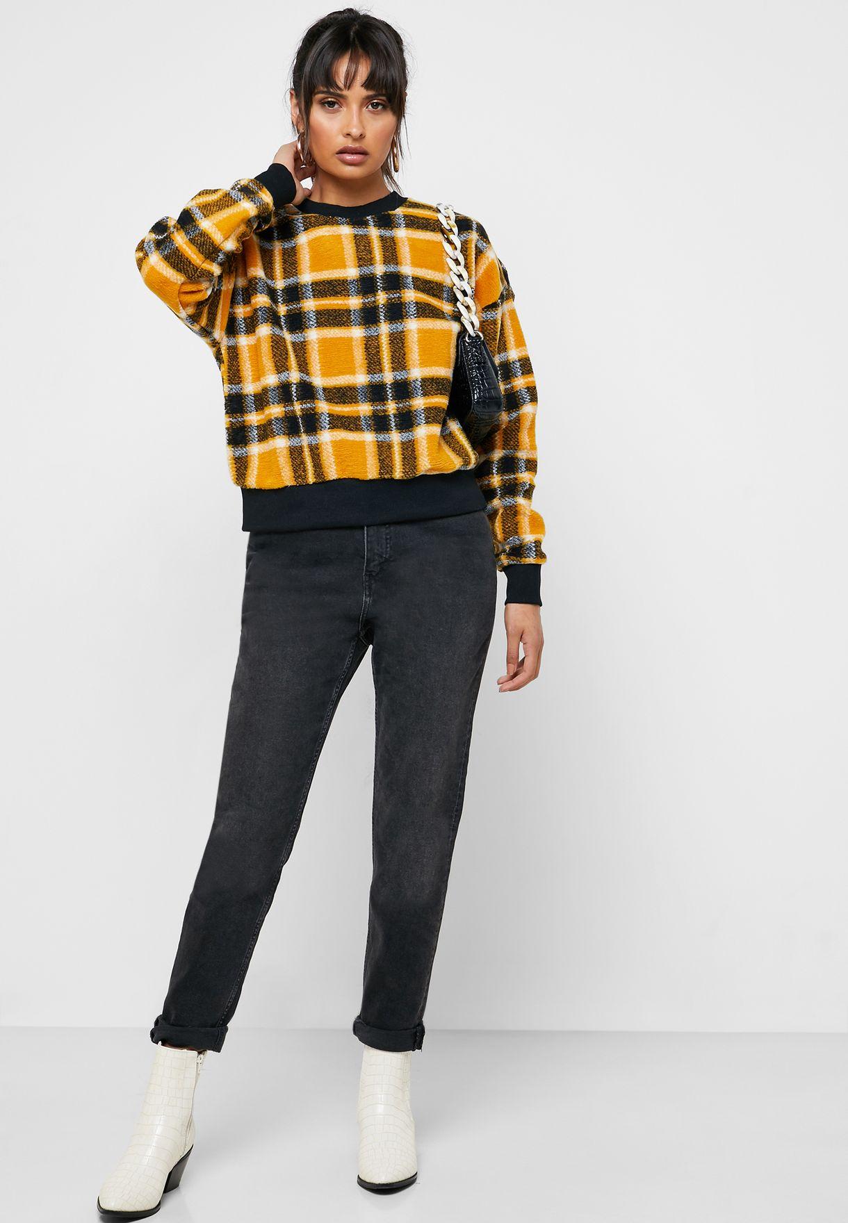 Checked Sweatshirt